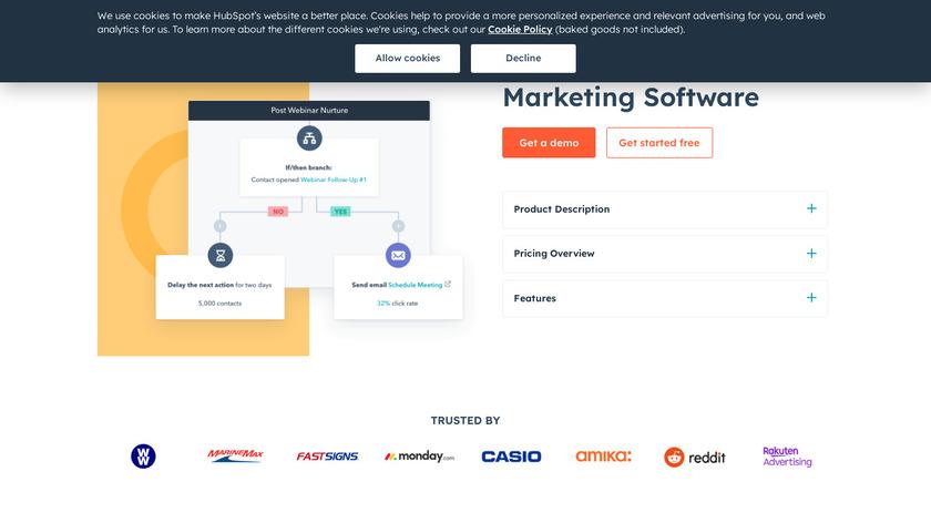 HubSpot Marketing Hub Landing Page