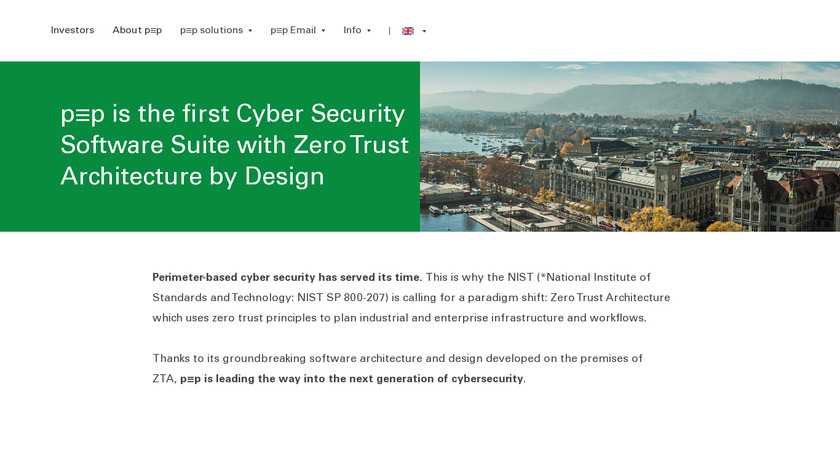 pep.security Landing Page