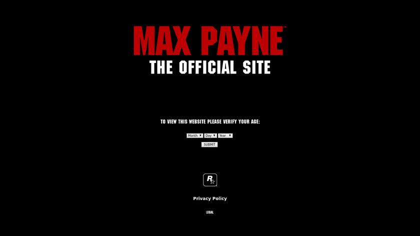 rockstargames.com Max Payne Landing Page