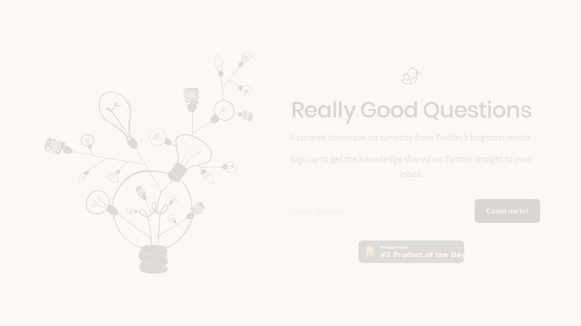 Really Good Questions Landing Page