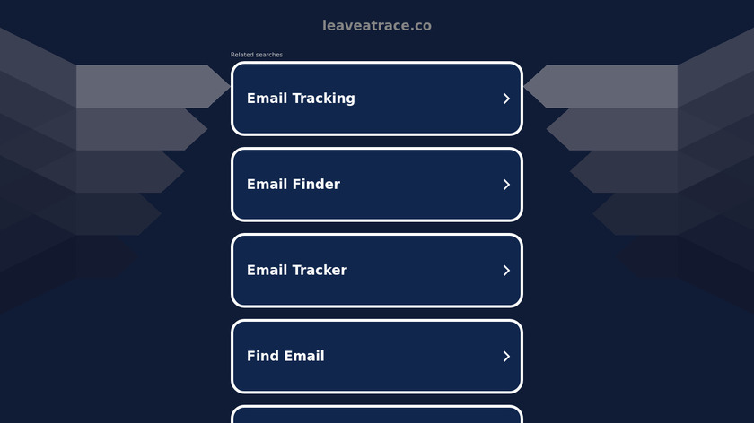 Leave A Trace Landing Page