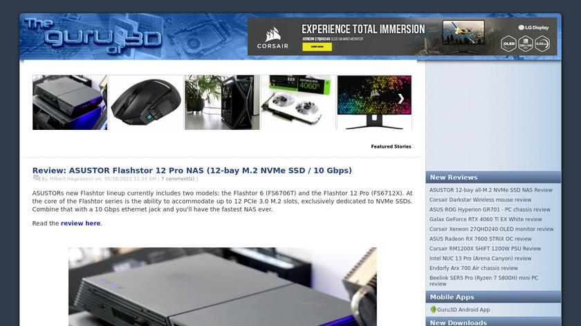 Guru3D Landing Page