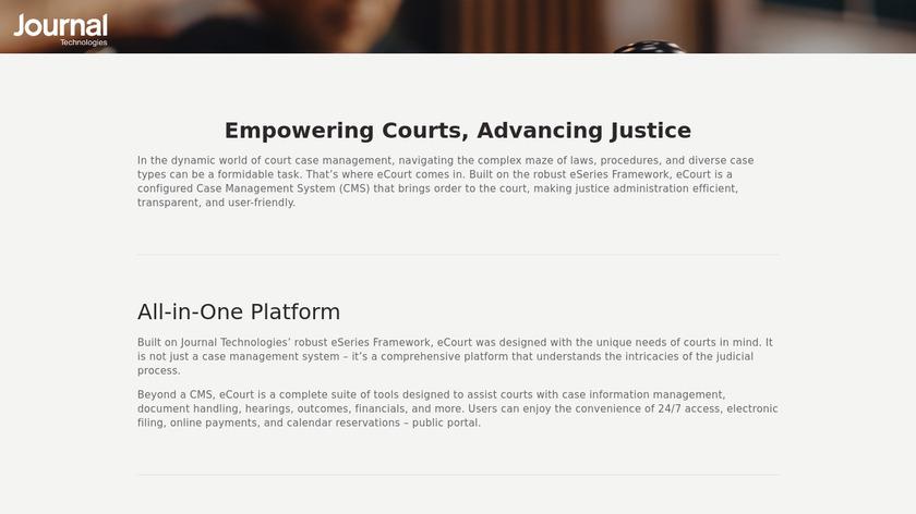 eCourt Landing Page