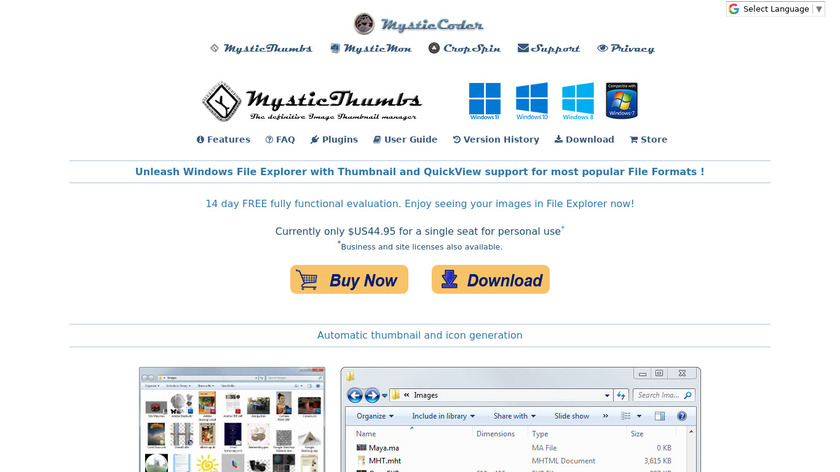 MysticThumbs Landing Page