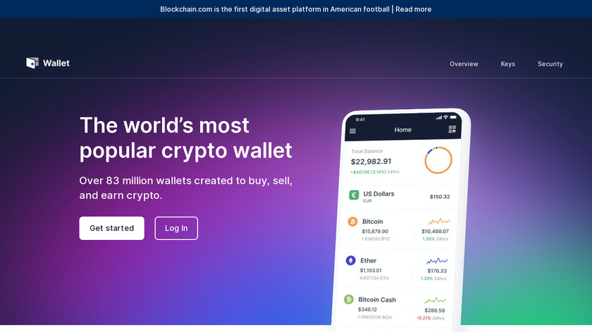 Blockchain Wallet Landing Page