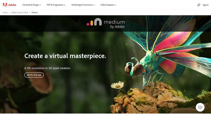 Oculus Medium Landing Page