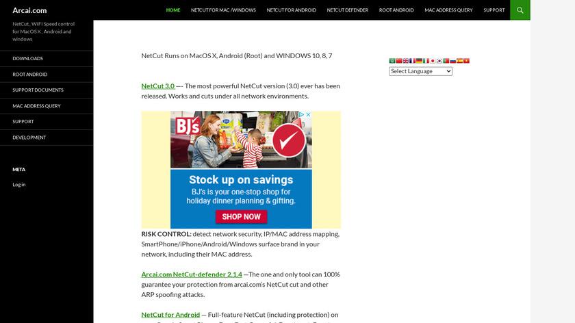 NetCut Landing Page