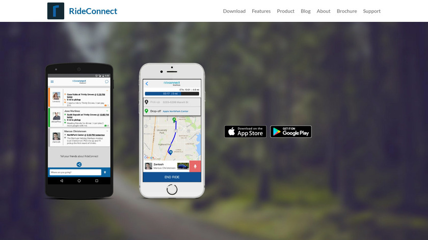 RideConnect Landing Page