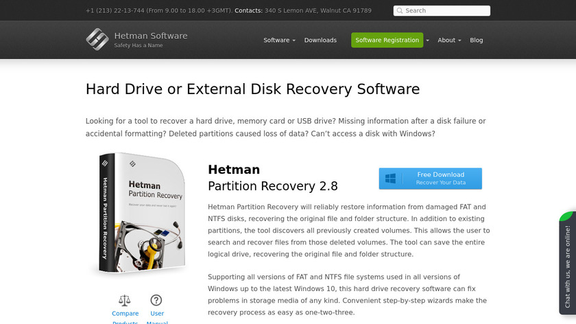 Hetman Partition Recovery Landing Page