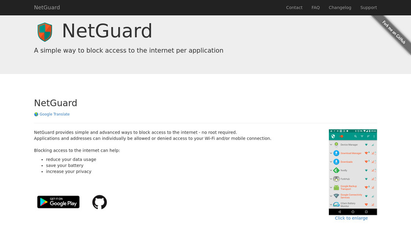 NetGuard Landing Page