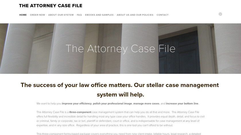 The Attorney Case File Landing Page