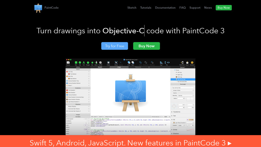 PaintCode Landing Page