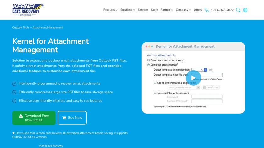 Kernel for Attachment Management Landing Page