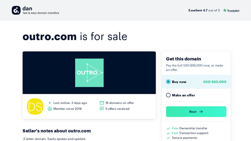 Outro Landing Page
