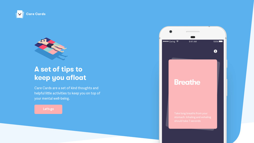 Care Cards Landing Page