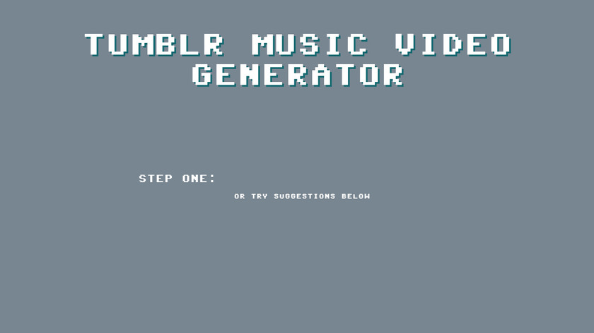 Tumblr Music Video Generator Landing Page