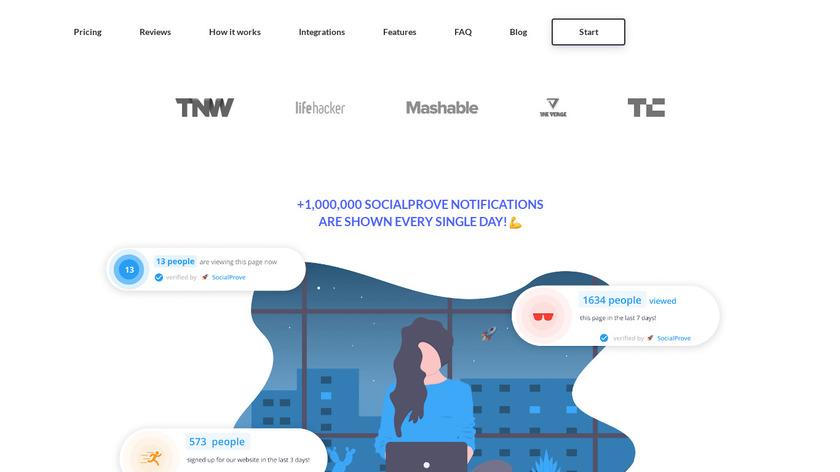 SocialProve Landing Page
