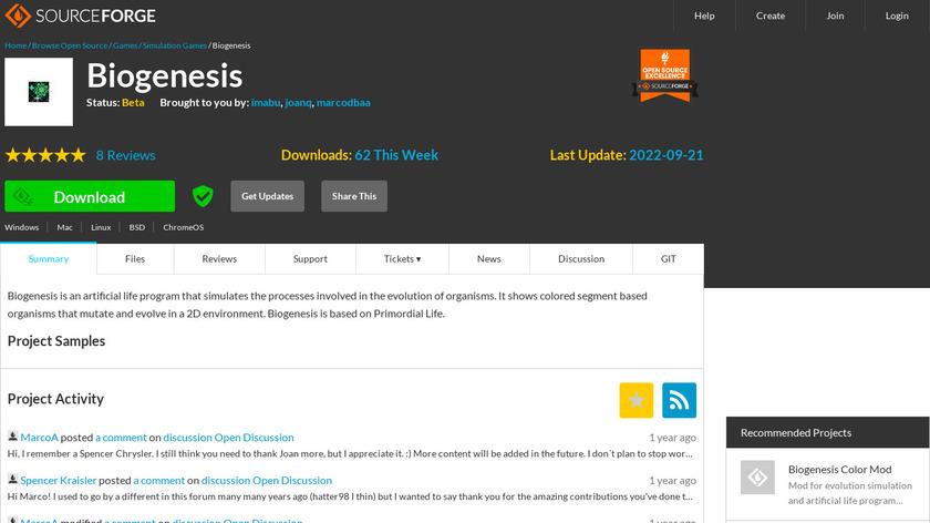 Biogenesis Landing Page