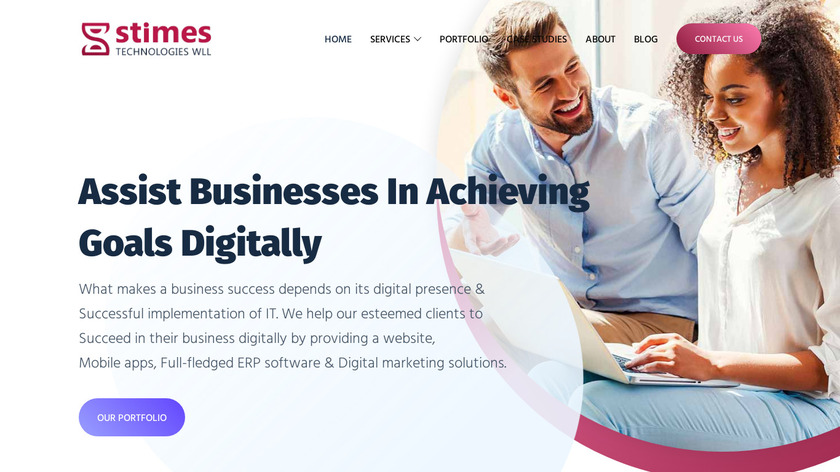 Stimes ERP software Landing Page
