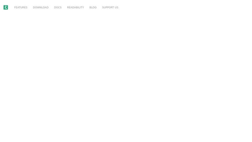 Zettlr Landing Page