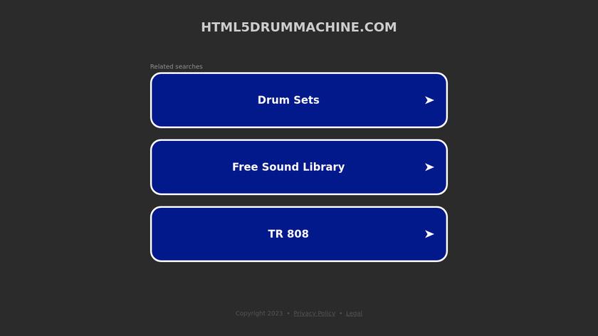 HTML5 Drum Machine Landing Page