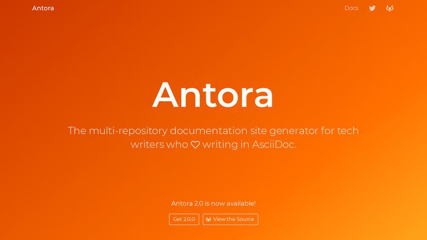 Antora Landing Page