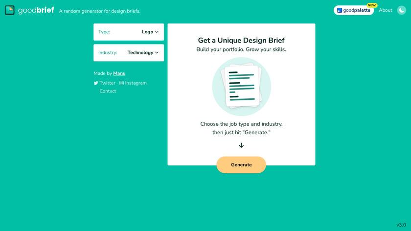 GoodBrief Landing Page