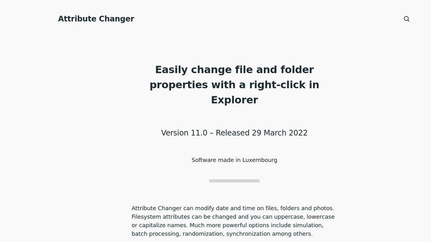 Attribute Changer Landing Page