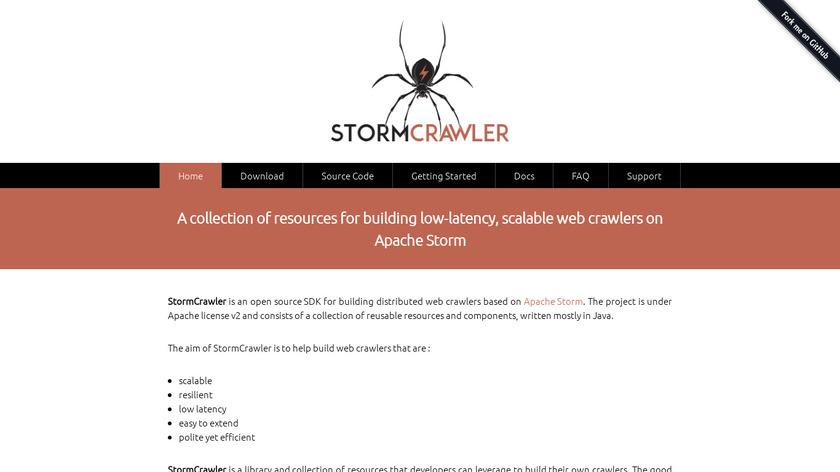 StormCrawler Landing Page