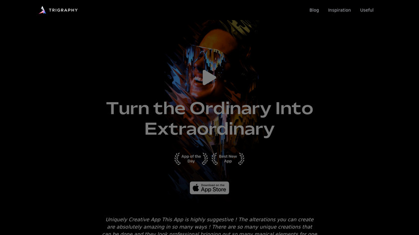 Trigraphy Landing Page
