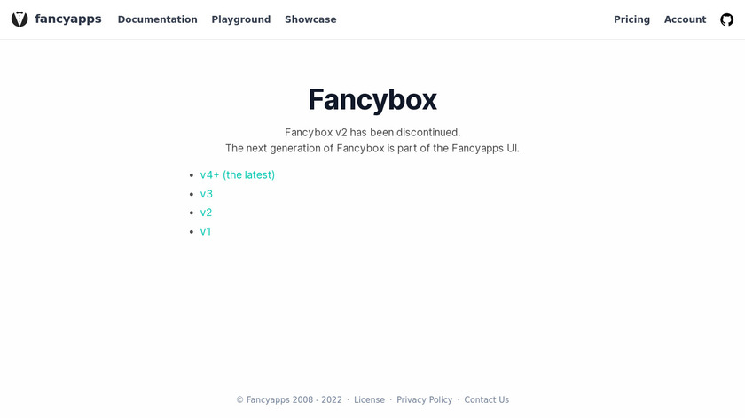 Fancybox Landing Page