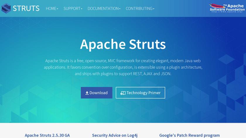 Apache Struts Landing Page