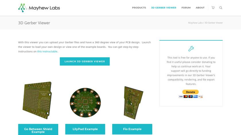 3D Gerber Viewer Landing Page
