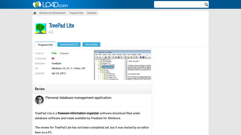 TreePad Landing Page