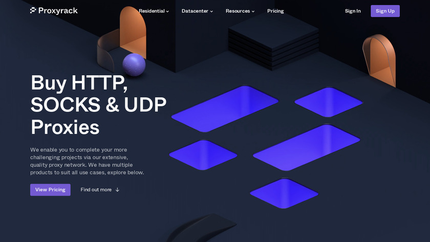ProxyRack Landing Page