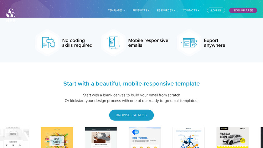 BeeFree.io Landing Page