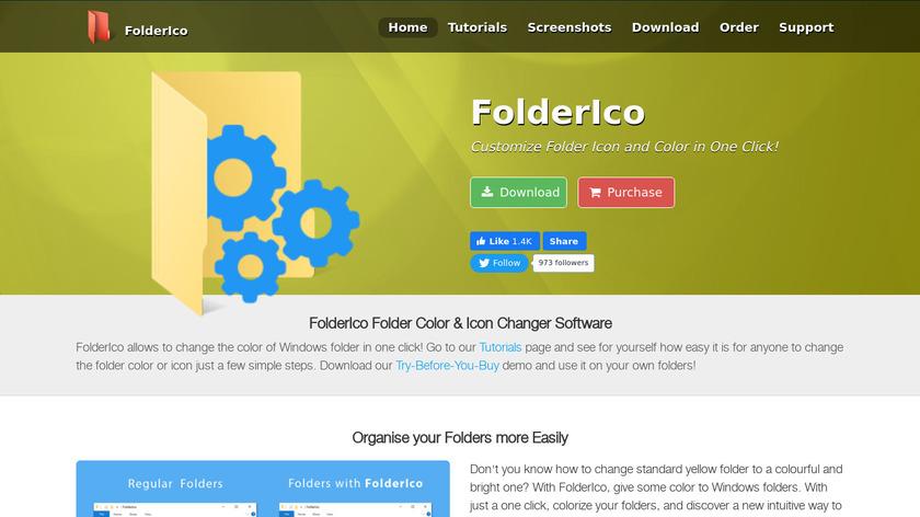 Teorex FolderIco Landing Page