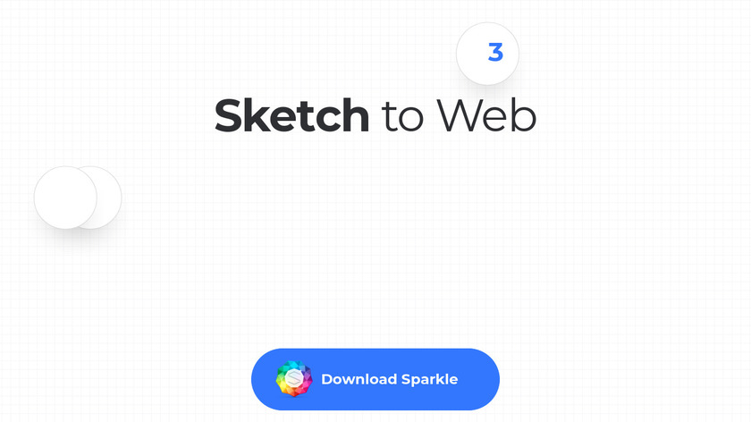 Sketch to Web Landing Page
