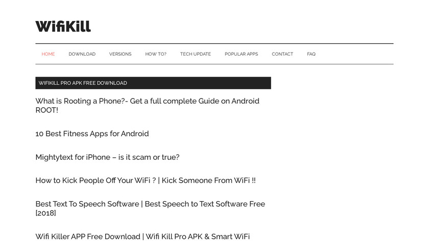 WifiKill Landing Page