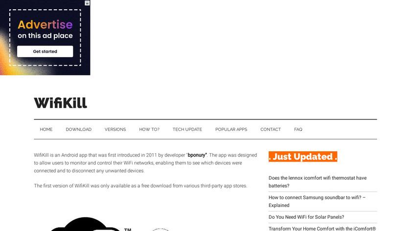WifiKill Landing Page