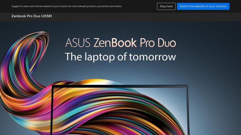 ZenBook Pro Duo Landing Page