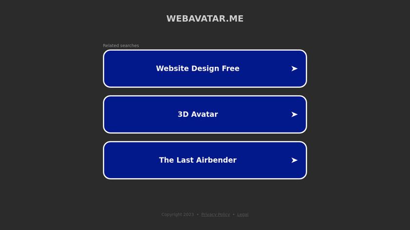 WebAvatar.Me Landing Page