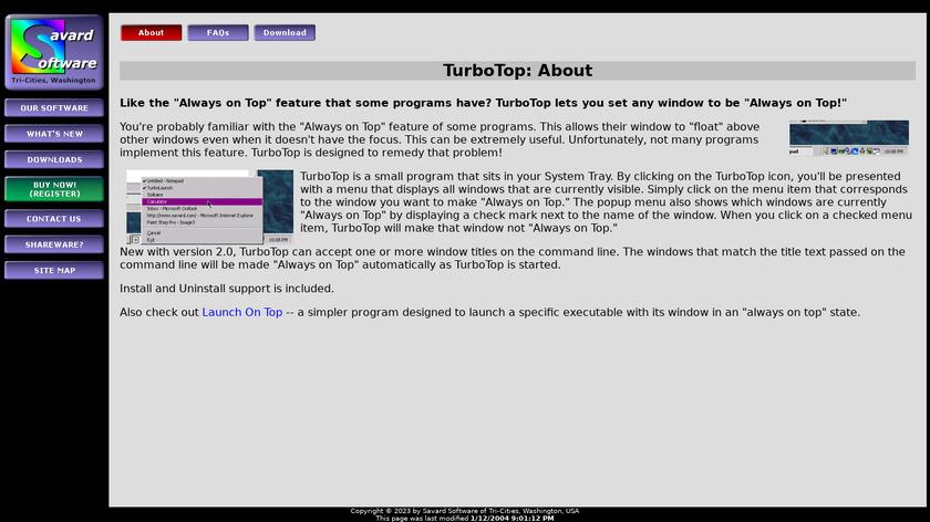 TurboTop Landing Page