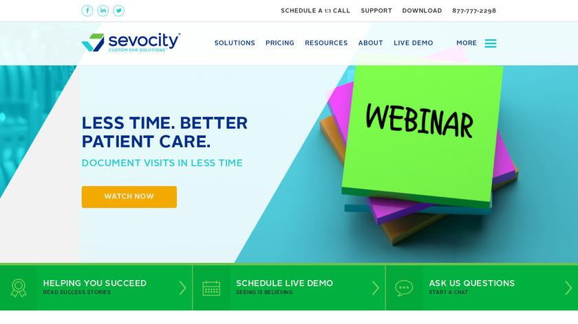 Sevocity Landing Page