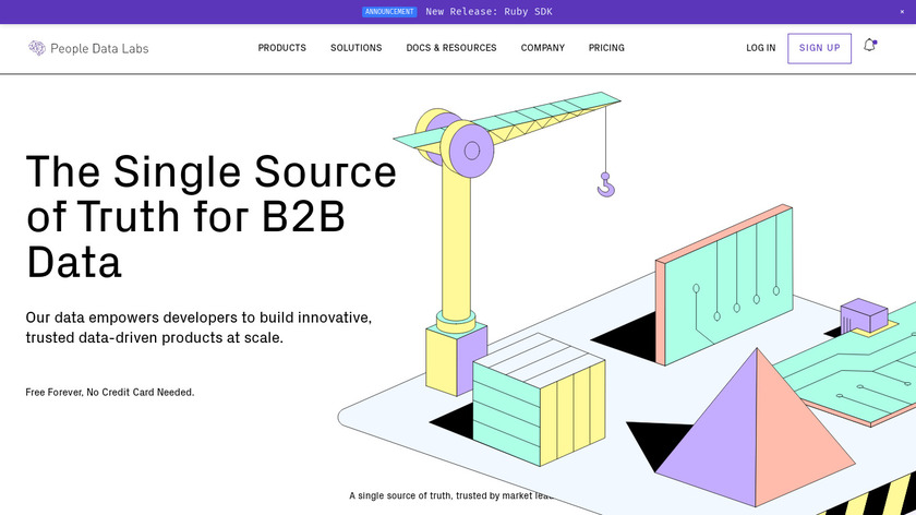 People Data Labs Landing Page