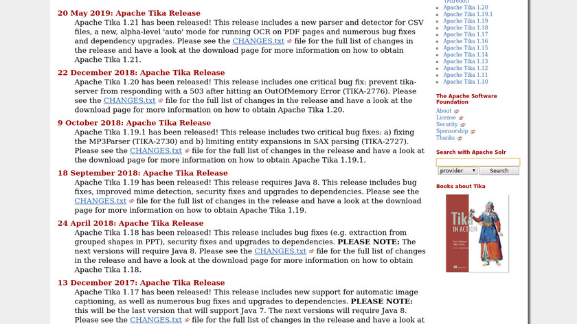 Apache Tika Landing Page