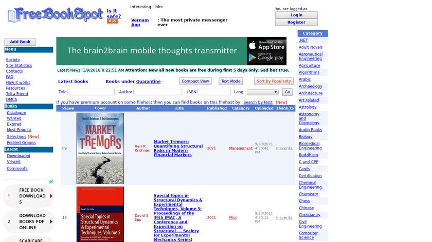 FreeBookSpot Landing Page