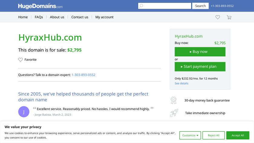 HyraxHub Landing Page