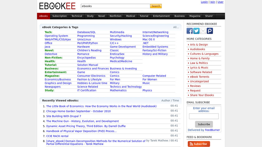 Ebookee Landing Page