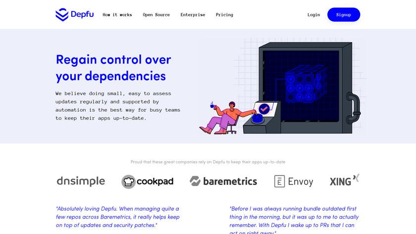Depfu Landing Page